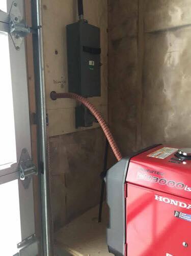 Generator Exhaust Extension In Garage