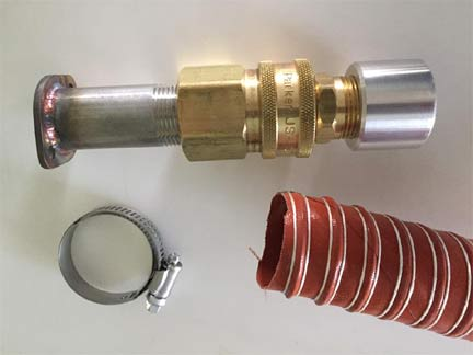 Bolt-On Exhaust Extension - Silicone